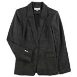 Calvin Klein Womens Plaid One Button Blazer Jacket