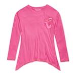 Sean John Girls Handkerchief-Hem Embellished T-Shirt