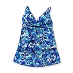 Jones New York Womens Sash Wrap Skirt 2 Piece Tankini
