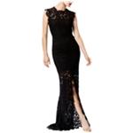 Rachel Zoe Womens Open Back Lace Gown Dress