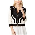 Rachel Zoe Womens Alissa Embellished Fringe Jacket