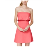 In Awe Of You Womens Ponte-Knit Fit & Flare Shift Dress