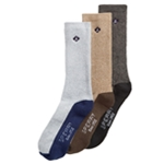 Sperry Mens 3 Pack Color Blocked Midweight Socks