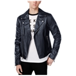 WHT SPACE Mens Casual Motorcycle Jacket