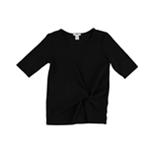 bar III Womens Twist Basic T-Shirt