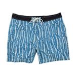 Nautica Mens Pieced Floral-Print Swim Bottom Board Shorts
