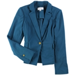 Calvin Klein Womens Crepe One Button Blazer Jacket