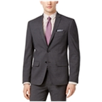 bar III Mens Mini-Grid Two Button Blazer Jacket