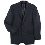 Alfani Mens Sharkskin Two Button Blazer Jacket