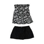 24th & Ocean Womens Tummy Control Skirt 2 Piece Bandeau