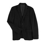bar III Mens Slim-Fit Black Stripe Two Button Blazer Jacket