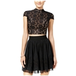 City Studio Womens Tulle A-line Skirt