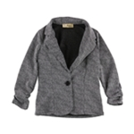 Hybrid & Company Womens Marled One Button Blazer Jacket