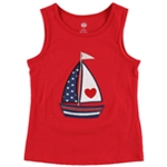 Kids Headquarters Girls Embroidered Sailboat Tank Top
