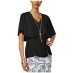 Thalia Sodi Womens Texture V-Neck Pullover Blouse