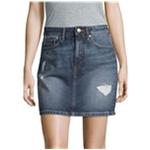 Calvin Klein Womens Distressed A-line Skirt