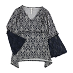 NY Collection Womens Paisley Print Pullover Blouse