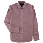 Nick Graham Mens Checkered Modern Fit Button Up Dress Shirt