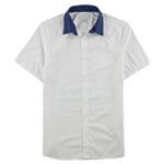 Calvin Klein Mens Solid Button Up Shirt