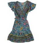 Twink Lady Womens Floral Wrap Dress