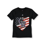 Majestic Boys Patriotic Home Plate Graphic T-Shirt