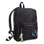 twelveNYC Girls Patch Denim Everyday Backpack