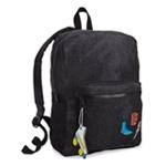 twelveNYC Girls Patch Denim Everyday Backpack