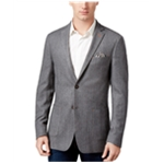 Tallia Mens Herringbone Two Button Blazer Jacket