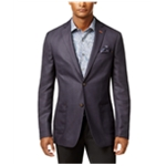Tallia Mens Dotted Two Button Blazer Jacket
