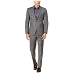 Tallia Mens Double Windowpane Two Button Blazer Jacket