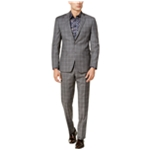 Tallia Mens Double Windowpane Tuxedo