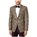 Tallia Mens Brocade Two Button Blazer Jacket
