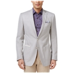 Tallia Mens Basketweave Two Button Blazer Jacket