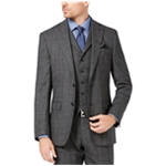 Tallia Mens Plaid Wool Two Button Blazer Jacket
