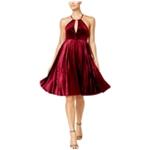 Endless Rose Womens Velvet Fit & Flare Dress