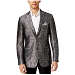 Tallia Mens Jacquard Two Button Blazer Jacket