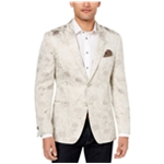 Tallia Mens Gold Leaf Two Button Blazer Jacket
