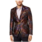 Tallia Mens Abstract Floral Two Button Blazer Jacket