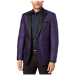Tallia Mens Purple Dinner One Button Blazer Jacket