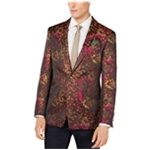 Tallia Mens Abstract One Button Blazer Jacket