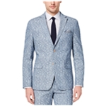 Tallia Mens Paisley Denim Two Button Blazer Jacket