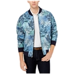 Tallia Mens Modern-Fit Tropical Print Bomber Jacket