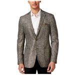 Tallia Mens Metallic Two Button Blazer Jacket