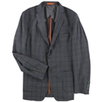 Tallia Mens Windowpane Two Button Blazer Jacket