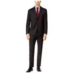 Vince Camuto Mens Black Check Two Button Formal Suit