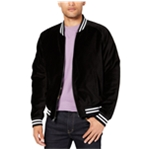 Tallia Mens Velvet Embroidered Bomber Jacket