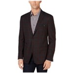 Tallia Mens Plaid Two Button Blazer Jacket