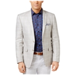 Tallia Mens Windowpane Slim-Fit Two Button Blazer Jacket