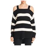 Sanctuary Clothing Womens Amelie Cold-Shoulder Knit Sweater