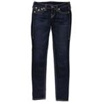 True Religion Womens Flap Skinny Fit Jeans